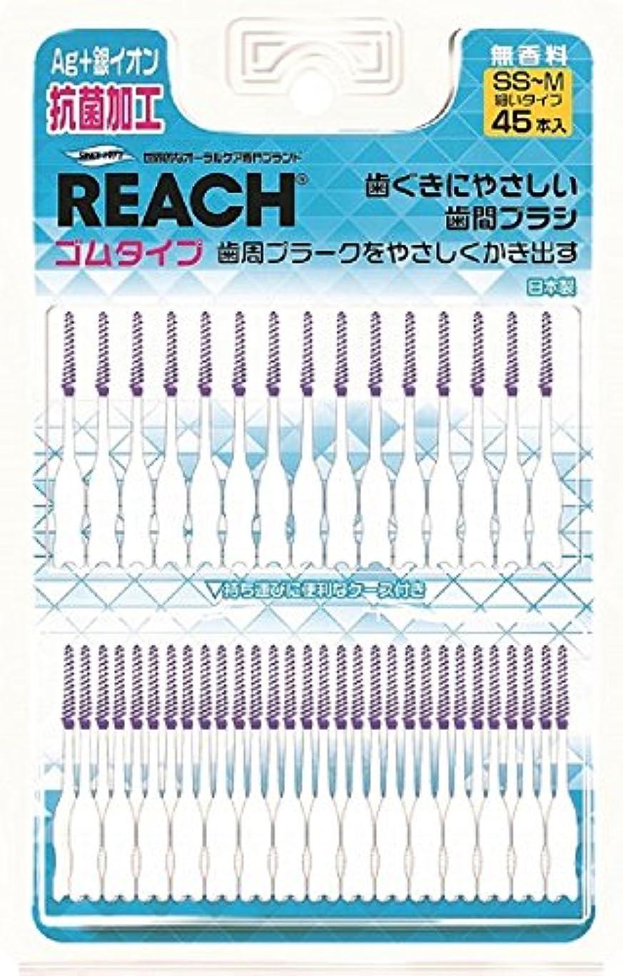 バッグフォーマット熱心なリーチゴム歯間ブラシ 45個入り
