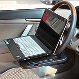 車載用 ハンドル(ステアリング)取付 テーブル 装着型テーブル 2WAYタイプ ブラック