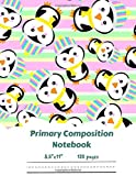 Primary Composition Notebook - Draw & Write Notepad for Kids - Picture Space & Skip Line Spacing 120pages(8.5