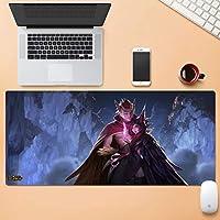 Officeの多機能耐水性大マウスパッドゲーミングノンスリップ拡張マウスパッド耐久性のあるステッチエッジラバーベース、コンピュータ LXMSP (Color : B, Size : 4mm)