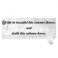 詩の引用のような人生の夏の花 ノンスリップゴムパッドのゲームマウスパッドプレゼント