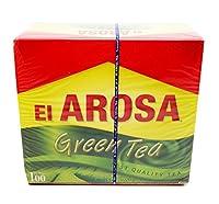 Egypt El Arosa Green Tea/Mint 100 Tea bags Natural Daily Healthy Drink Tea Cup (Green Tea)