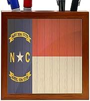 Rikki Knight New Carolina Flag on Distressed Wood Design 5-Inch Wooden Tile Pen Holder (RK-PH8646) [並行輸入品]