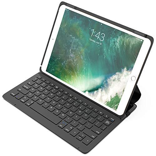 Inateck iPad Pro 10.5 インチ専用キーボードケース、6行ワイヤレスBluetoothキーボード、スマートパワースイッチ、多角度調整可能、ブラック(BK2005)