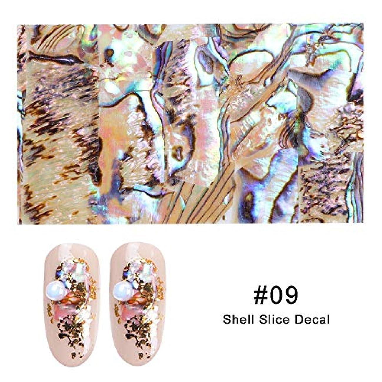 フィルタなめる抽象Artlalic 1シートシェルアワビネイルアートシールグラデーションマーメイドフレークネイル箔シーサイドデザインステッカーデカール15色