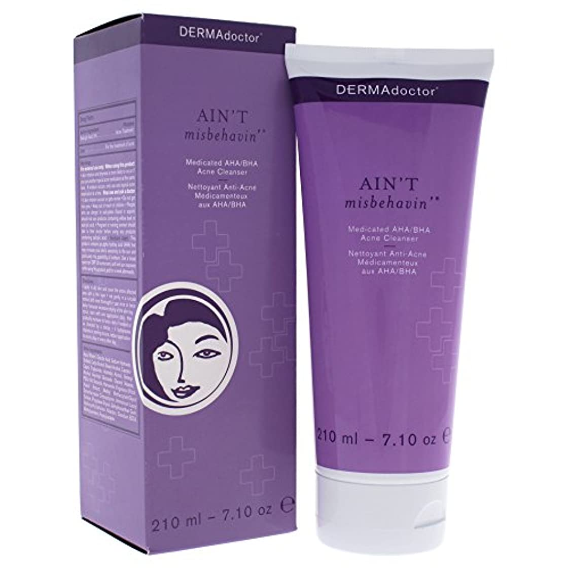 トーナメント銀行薬用Aint Misbehavin Medicated AHA/BHA Acne Cleanser