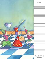 Blank Sheet Music: 6 Stave Manuscript Paper Notebook - Fairy Marching Band