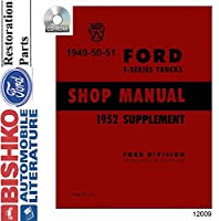 19491952フォードトラックショップサービス修復手動CDエンジンDrivetrain配線OEM
