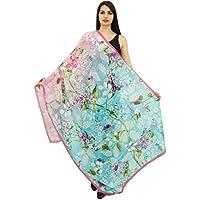 Phagun Floral Long Scarf Sarong Women Wrap Dupatta Summer Stole Scarves-40x72 Inches