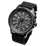 [LAD WEATHER]腕時計 メンズ ソーラー電波時計 ブラック lad017