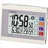 カシオ ウエーブセプター 生活環境お知らせクロック 【おき型 置型 卓上 置時計 デジタル casio かしお カレンダー アラーム 温度 湿度 温湿度 電波時計 F7109-04】