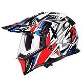 オフロード バイクヘルメット ヘルメット バイク用 バージョン ダブルシールド PSC付き  YHZ-98[商品03/L]