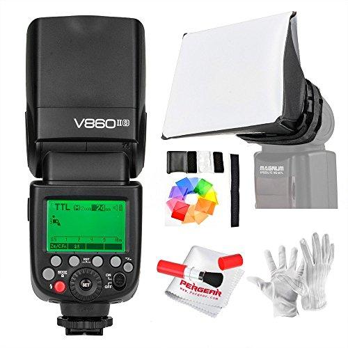 【技適マーク付き】Godox Ving V860IIS 2.4G GN60 TTL HSS 1/8000s リチウムオン電池カメラフラッシュスピードライト - 1.5Sリサイクルタイム650フルパワーポップ TTL/M/マルチ/ S1/ S2をサポート Sonyソニーデジタル一眼レフカメラに対応 日本電波法認証取得