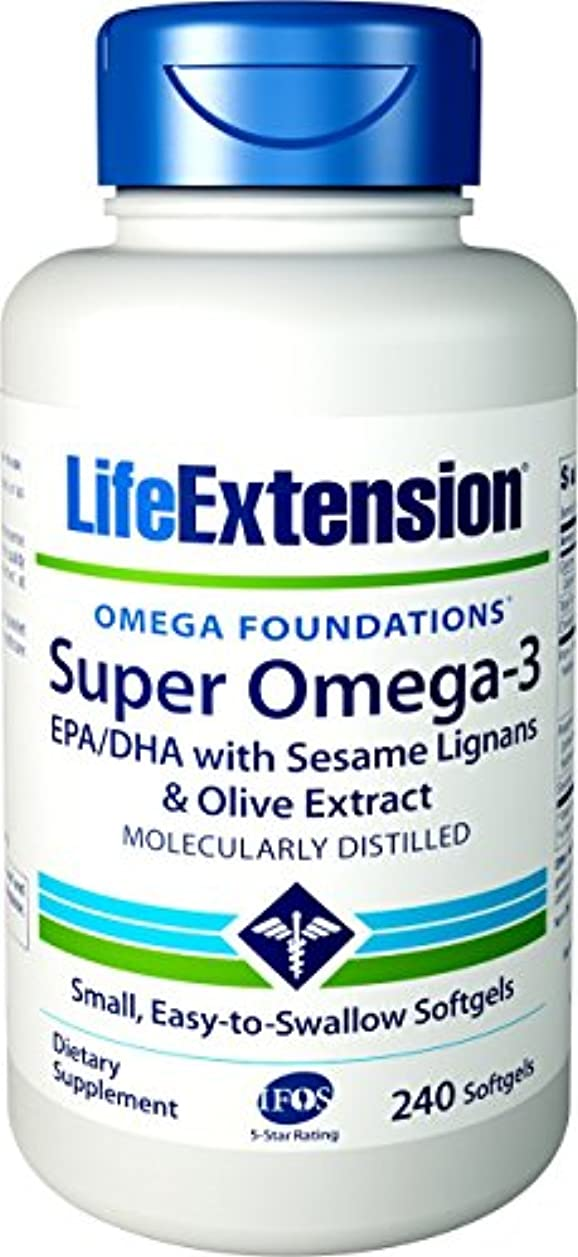 パウダー口述暗殺者海外直送品Life Extension Super Omega-3 EPA DHA with Sesame Lignans & Olive Fruit, 240 Softgels