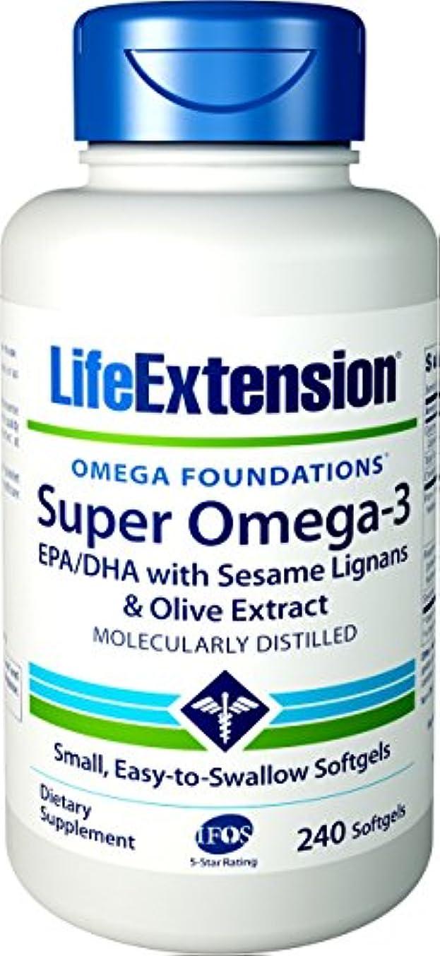 傭兵ふざけたとティーム海外直送品Life Extension Super Omega-3 EPA DHA with Sesame Lignans & Olive Fruit, 240 Softgels