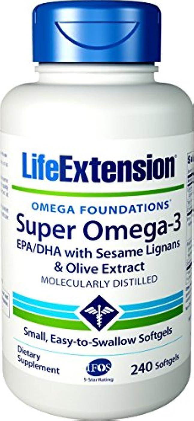 ドロー疲れた問題海外直送品Life Extension Super Omega-3 EPA DHA with Sesame Lignans & Olive Fruit, 240 Softgels