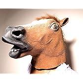 ハロウィン 楽しく大変身 盛り上げてくれること間違いなし♪ アニマルマスク サラブレッド 馬 マスク 仮面 お面 かぶりもの ハロウィン変装 仮装 被り物 動物 お面 コスプレ なりきりマスク
