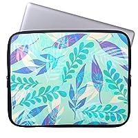Recaso(レカソ)クール 花柄 ラップトップスリーブ 15インチ PCケース 15.6 パソコンケース ノート パソコン バッグ カバー PCバッグ 革 Mac Pro case 15inch
