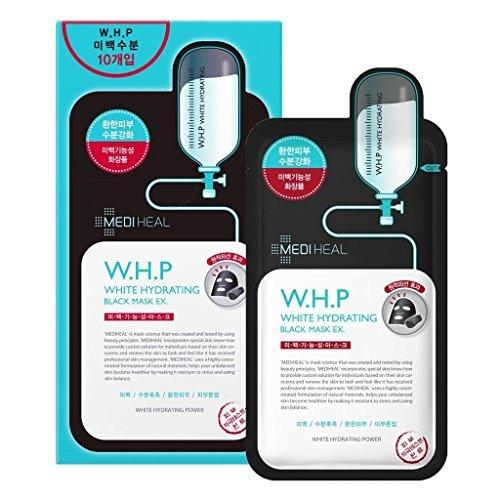 Mediheal WHP ホワイト ハイドレイティング ブラック マスク EX 25mL x10枚 [並行輸入品]