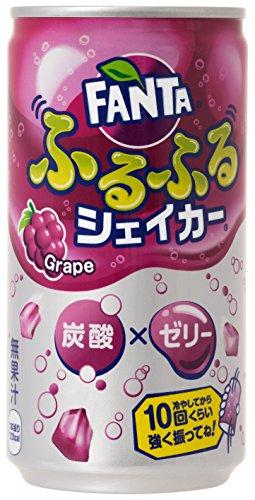 コカ・コーラ ファンタ ふるふるシェイカー 炭酸 ゼリー グレープ 缶 180ml×30本