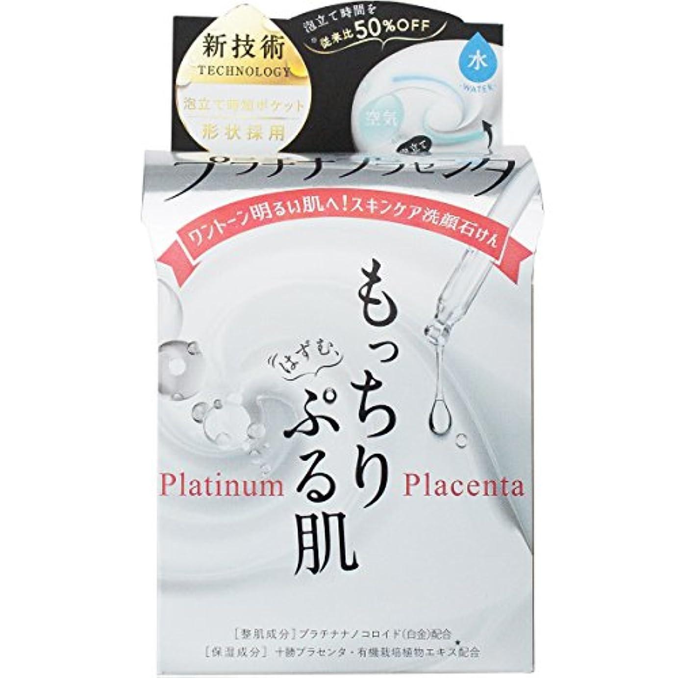タービン新年氏肌楽プラチナプラセンタ洗顔石鹸 60g