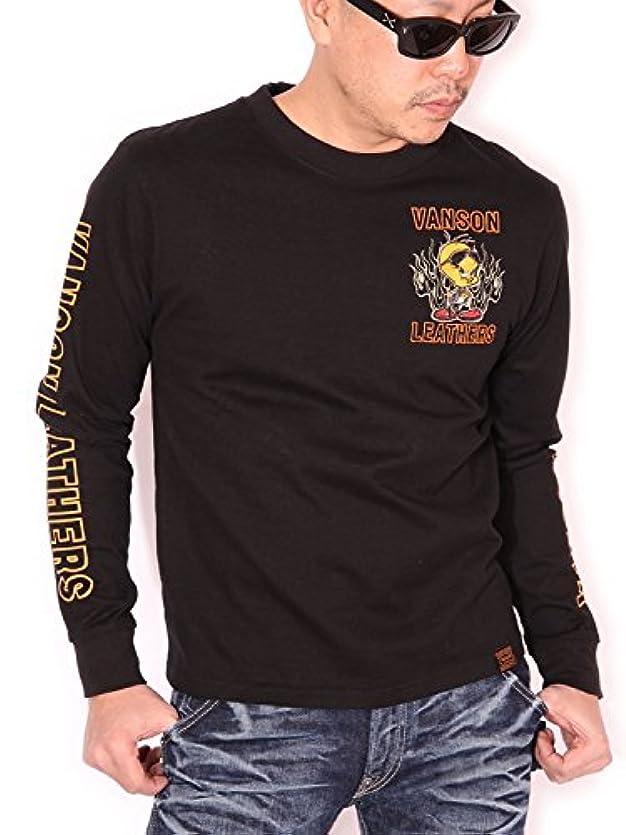 スキャン頬骨ではごきげんよう(バンソン) VANSON ルーニー?テューンズ BIKER TWEETY ロンT 長袖Tシャツ LTV-801