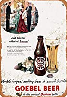 なまけ者雑貨屋 アメリカン 雑貨 ナンバープレート [Goebel Bantam Beer] ヴィンテージ風 ライセンスプレート メタルプレート ブリキ 看板 アンティーク レトロ