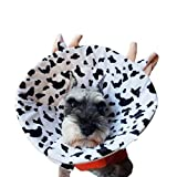 犬 猫用 エリザベスカラー ペット用品 超かわいい アニマルデザイン 着けたまま 眠れる 軽量 ソフト マジックテープ 装着簡単 衝撃吸収 介護ケア 手術後 傷舐め 引っ掻き 防止 6種 4サイズ(2号 ウシさん)