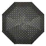 長傘 傘波ポイント自動折りたたみライトと便利な人格トレンド傘男性と女性は5つ折り傘サンシェードUV多目的傘を使用することができます (Color : Black, Size : 96*61cm)