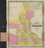 マップ: 1856Chapman 's新しいSectionalミネソタ州の。入力according to議会のAct in the Year 1856by Silas chapman|minnesota
