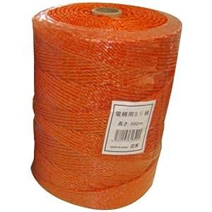 シンセイ 電柵用ロープ 500m オレンジ