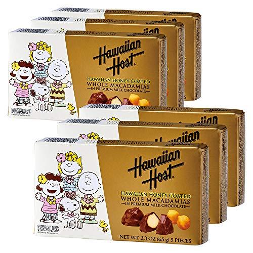 ハワイお土産 ハワイアンホースト Hawaiian Host スヌーピーフレンズ ハニー マカデミアナッツチョコレート 6箱セット