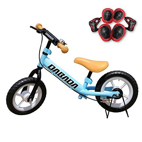 DABADA(ダバダ) ランバイク ペダルなし自転車 子供用 スタンド付き 軽減ブレーキ付き バランス 2歳~5歳 (スカイブルー)
