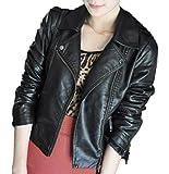 (アナトレ)Anotre レディース フェイク レザー ライダース ジャケット スプリングコート 革ジャン 本革 風 人気 韓国 スタイル (XL)