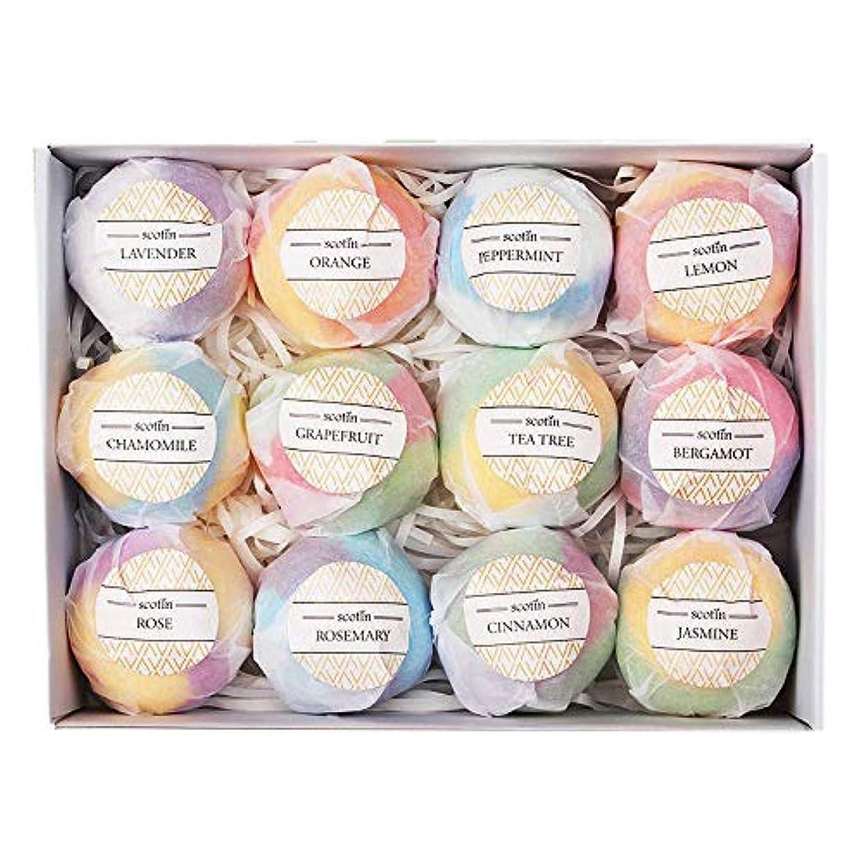 石鹸軽くロイヤリティCUHAWUDBA おバスボールギフトセット-12手作りフィジー 女性向け-泡とスパバスに最適-乾燥肌に潤いを与えるエッセンシャルオイルとフレグランスオイル