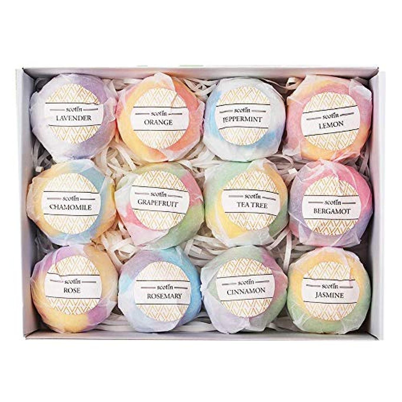 葉巻小切手磁石CUHAWUDBA おバスボールギフトセット-12手作りフィジー 女性向け-泡とスパバスに最適-乾燥肌に潤いを与えるエッセンシャルオイルとフレグランスオイル