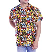 Virgin Crafts Hawaiian Christmas Shirts Men Santa Claus Beach Holiday Party Casual Shirt