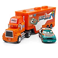LIFEディズニーピクサーカーズ 21 スタイルマックトラック + 小型車マックイーン 1:55 ダイキャストメタル合金とプラスチック Modle 車のおもちゃ子供のためのギフト おもちゃの車のる