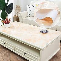Pvc 防水 テーブル クロス,透明オイル-証拠流出-証明 テーブルカバー 長方形 テーブルカバー コーヒー テーブル クロス-n 65x120cm(26x47inch)