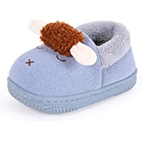 Kid Slippers, Cute Animal Slippers Boots Non Slip Boys Girls Little Kids Toddler House Shoes with Sole TPR Material,A,22