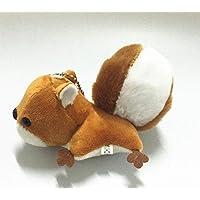 HuaQingPiJu-JP ふわふわの動物のぬいぐるみリスおもちゃの装飾ぬいぐるみソフトおもちゃ14cm(青)