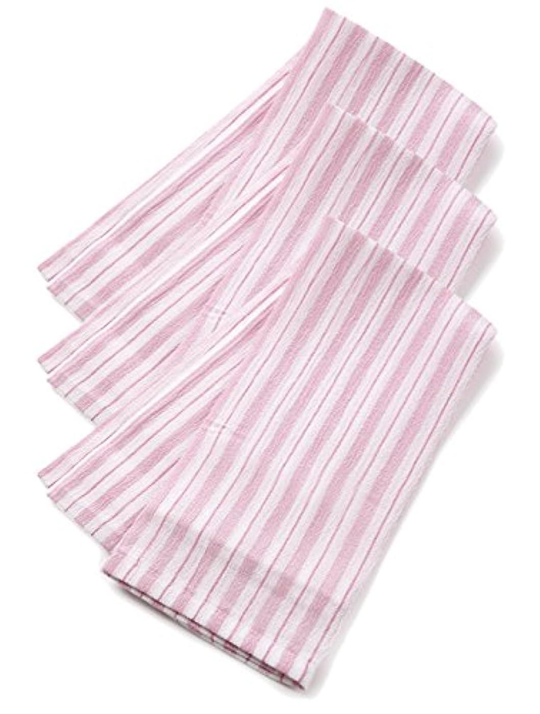 ベーリング海峡信頼性カウボーイくーる&ほっと 昔ながらのレーヨンあかすり 日本製(群馬県で製造) 長尺 3枚組 (ピンク)