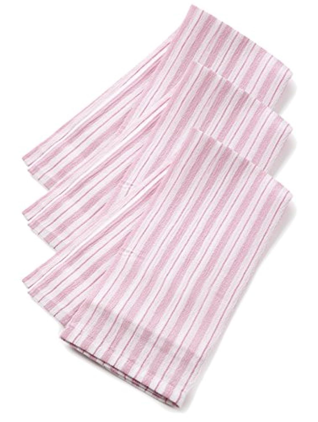 収束ボクシング掻くくーる&ほっと 昔ながらのレーヨンあかすり 日本製(群馬県で製造) 長尺 3枚組 (ピンク)