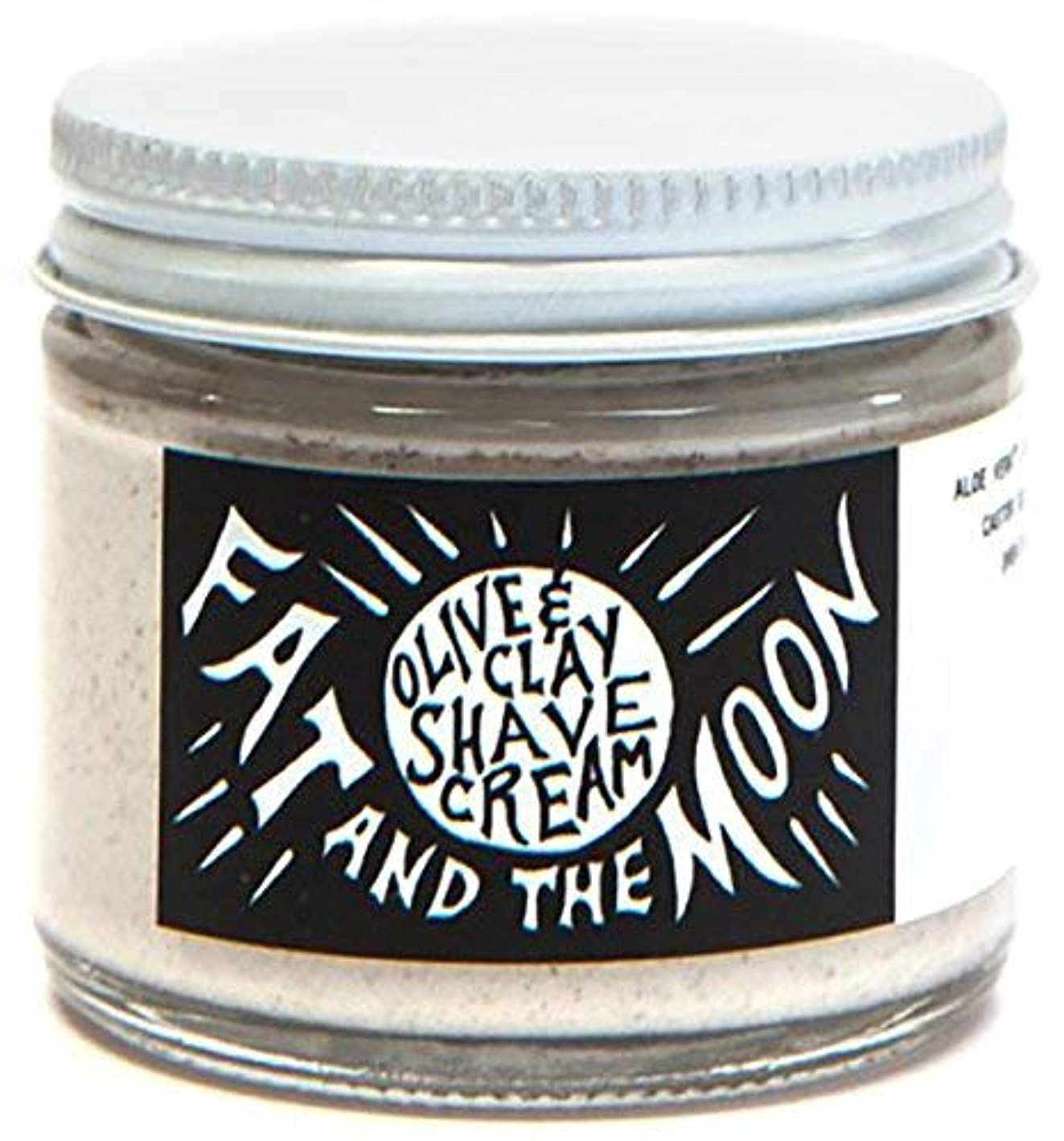湖流行施しFat and The Moon - All Natural Olive & Clay Shave Cream (2 fl oz) [並行輸入品]