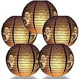 "Quasimoon Paperlanternstore.com 12 Pack | 10"" Bats Halloween Paper Lantern, Hanging Party Decoration Combo Set, Orange"