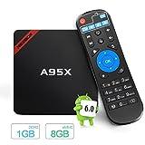 NEXBOX Android 6.0スマートBOX A95X Amlogic S905Xクアッドコア2.0GHz 1GB/8GB 4Kスマートホームエンターテインメントシアター