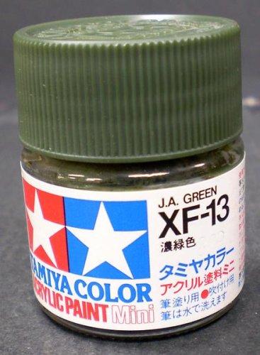 タミヤカラー アクリルミニ つや消し XF13 濃緑色 10ml 81713