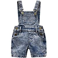 Mornyray Toddler Kids Boys Casual Denim Bib Pants Retro One Piece Overalls