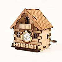 Clock House Model Kit Music Box Wooden Decoration Toy by Young Modeler [並行輸入品]