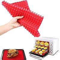 便利なクリエイティブピラミッドシリコンベーキングマットノンティックパンパッドクッキングマットオーブンベーキングトレイマットキッチンツールベーキングウェアガジェット:レッド